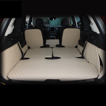 lsrtw2017 for volvo xc90 wearable waterproof leather car trunk mat cargo liner  2015 2016 2017 2018 2019 carpet rug accessories