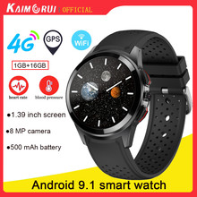 """LT10 Android 9.1 Smart Watch 4G, 1GB+16GB 1.39"""" Watch,  8MP Camera SIM Card Phone Call WiFi GPS Smartwatch Connect Android IOS"""
