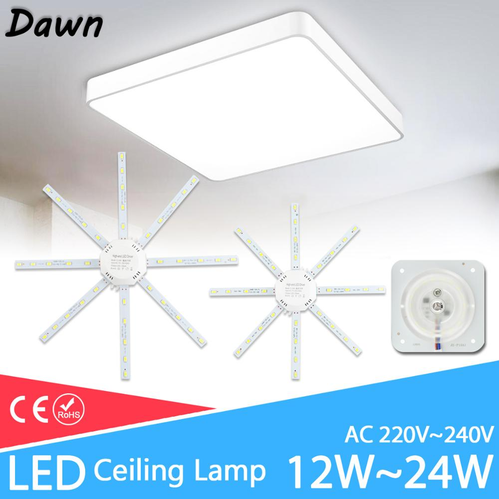 Led Ceiling Lamp 12W 16W 18W 20W 24W 220V PCB Board Modified Light Source Led Bulb Plate Octopus Tube Energy Saving Lamp Plafon