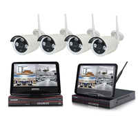 WIFI video überwachung 960P 4CH WIFI NVR kit mit 10 zoll LCD display für im freien wasserdichte-in Überwachungssystem aus Sicherheit und Schutz bei