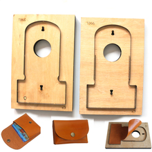 DIY leather craft card holder coin bag knife mould die cutter hand punch tool pattern