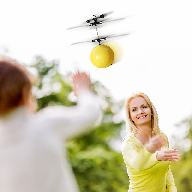Mini Drone Hand Induction Flying Ball Anti-stress Drone Facial Expression Flying Toys Funny RC Helicopter Aircraft For Kids Gift