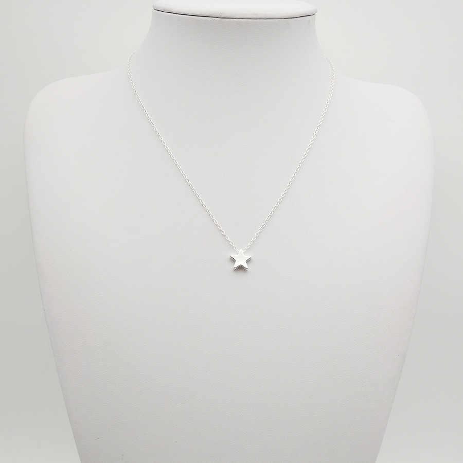 Moda estrela gargantilha colar feminino jóias chocker ouro prata estrela colar no pescoço corrente bijoux colares mujer collier femme