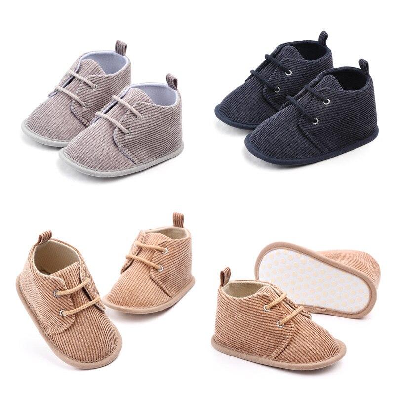 CANIS baskets pour bébé garçon | Chaussures de berceau en coton à semelle souple, taille nouveau-né à 18 mois, solide