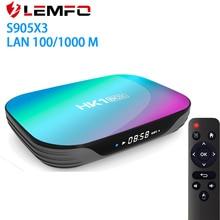 LEMFO 9.0 Android TV Box 4GB RAM 64GB 32GB 8K 2.4G5G WiFiสนับสนุนIPTV Google Youtube media Player S905X3ชุดกล่องด้านบน