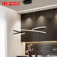 LOFAHS modern led pendant lights for Kitchen Bar suspension living room dining room pendant lamp Aluminum Fixtures Lampu