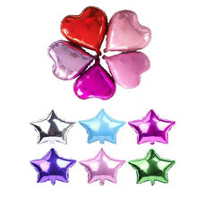 1pcs 18inch Love/star Shape Foil Balloons Wedding Decoration Birthday Party Balloon Ribbon DIY Baby Shower Child Toy Supplies-S(China)