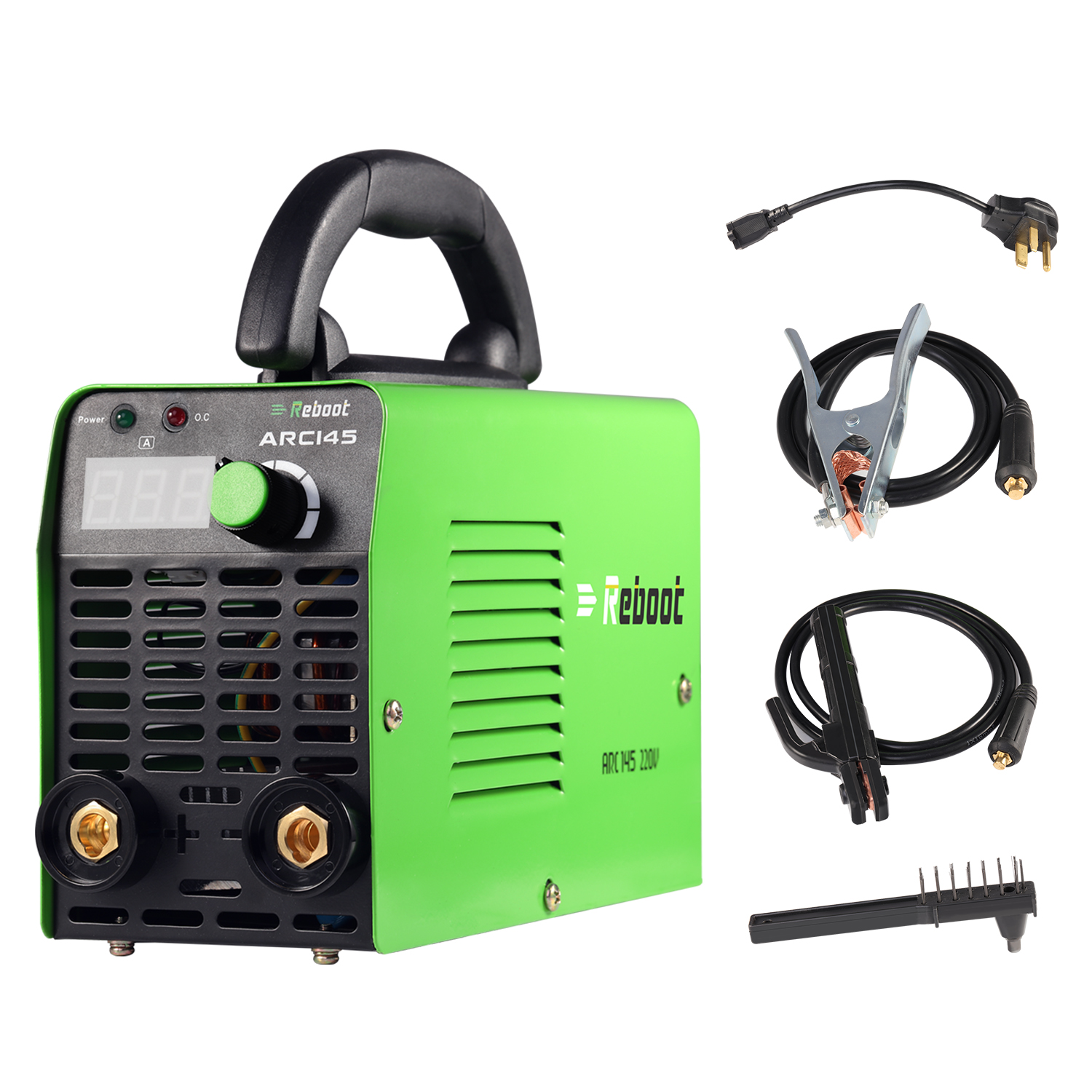 Reboot Stick Welder 145A AC 110V/220V MMA Inverter Dual Volts ARC Welding Machine Mini 1/16~1/8 Inch Electrode Portable Welder