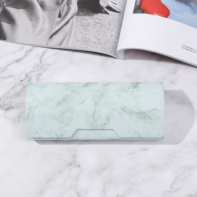 1Pc Marble Pattern Portable Magnetic Glasses Case Glasses Box Waterproof PU Eyewear Cover Sunglasses Cases Handmade Hot Sale 6