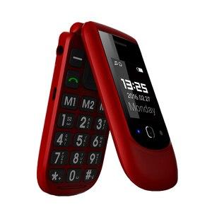 Image 1 - Yingtai T09 Best Caratteristica Del Telefono Gsm Grande Push Button Flip Telefono Cellulare Dual Screen a Conchiglia 2.4 Pollici Anziano Telefono Cellulare telefoni Fm MP3