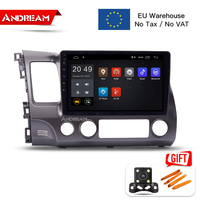Andream 10.1 Android 8.1 2G 16G Car GPS Navigation Head Unit Multimedia for Honda Civic 2004 2011 Bluetooth Stereo Radio