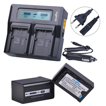 2Pc 5200mAH VW-VBD58 VBD29 VBD58 VBD78 AG-VBR59 Battery+LCD Quick Charger for Panasonic AJ-HPX260MC,HPX265MC,PX270,PX285MC,PX298