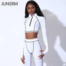 Sports set 2019 women new one-shoulder long-sleeved yoga sports pants zipper running sportswear