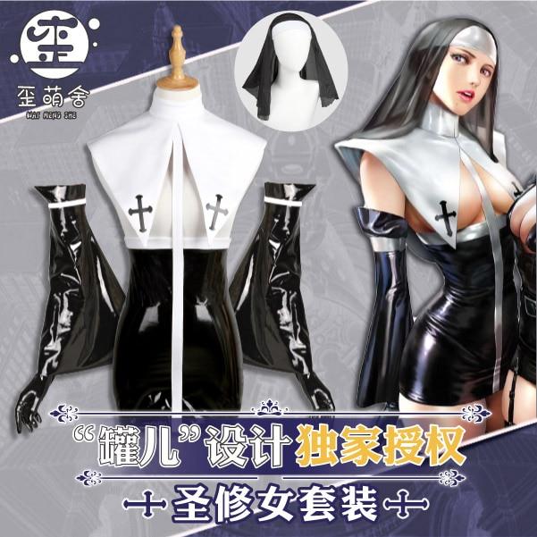 Conception originale Chrno croisade Cosplay Costume de mode Sexy en cuir noir et blanc Costume femme jeu de rôle exclusif