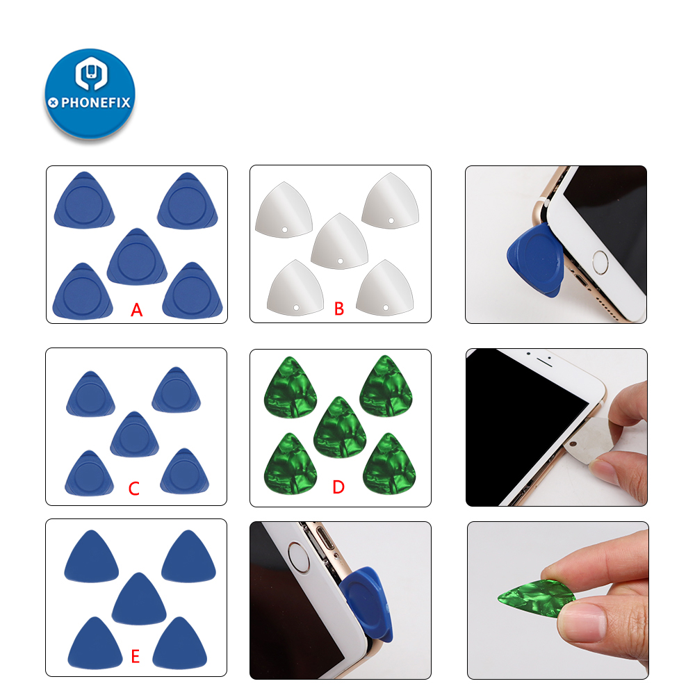 5pcs Triangle Pry Pieces Pry Blade Opening Cards Pry Tool Set Mobile Phone LCD Screen Opening Tools Disassembly Kit