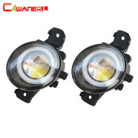 Cawanerl For Nissan March 3 / III (K12) Hatchback 2003 2010 Car LED Bulb Fog Light Angel Eye Daytime Running Light 12V 2 Pieces