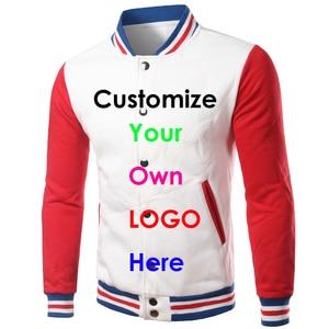 Image 2 - Brand White Varsity Baseball Jacket Men/Women 2020 Fashion Slim Fit Fleece Cotton College Jackets For Fall Bomber Veste Homme