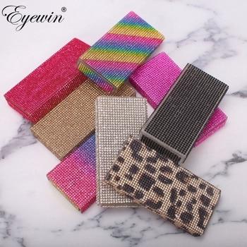 Eyewin 30 pcs Fales Eyelash Case Diamond Lash Case for Fake Eyelashes Customized Case for Wholesale Packaging Box In Bulk