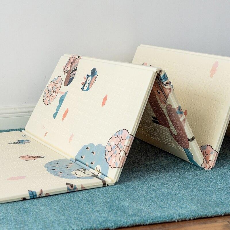 Tapis de jeu bébé pliable XPE mousse Puzzle tapis de jeu Puzzle tapis de sol enfants activité tapis rampant tapis 1CM épaisseur tapis de jeu