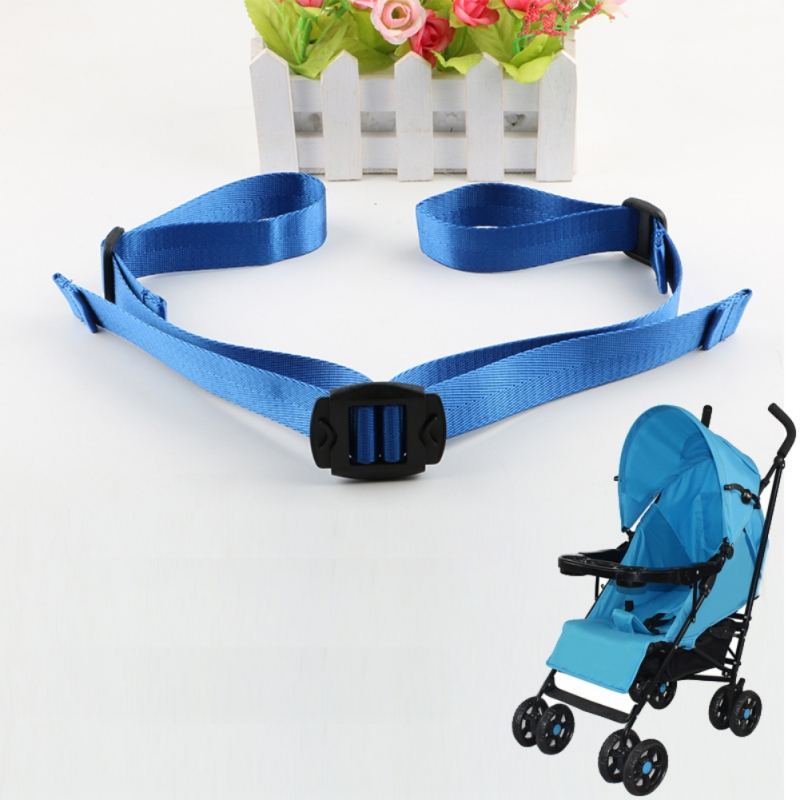Safe Stroller Seat Back Belt Adjustable High Chair Baby Car Backrest Belt Children Kids Chair Safety Strap With Locking Clip