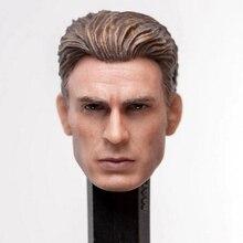 1/12 Captain America Steve Rogers Head Sculpt Fit for SHF 6'' Action Toys Iron Man Tony Stark Figure model Accessory недорого