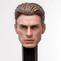 1/12 Captain America Steve Rogers Head Sculpt Fit for SHF 6'' Action Toys Iron Man Tony Stark Figure model Accessory