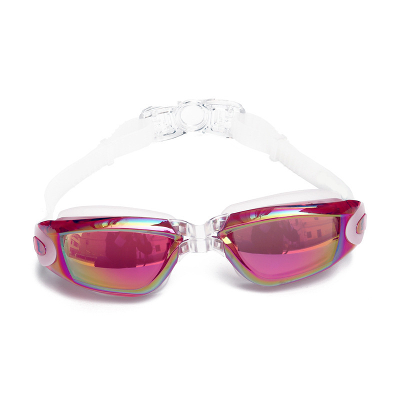 Di Lu Pu Adult Goggles Electroplated Outdoor Swimming Glasses Big Box Silica Gel Eye Protection Diving Mask