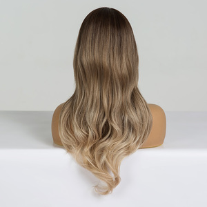 Image 5 - EASIHAIR Medium Braun bis Lila Ombre Haar Synthetische Perücken Für Schwarze Frauen Wellig Perücken Hohe Temperatur Glueless Perücken Cosplay