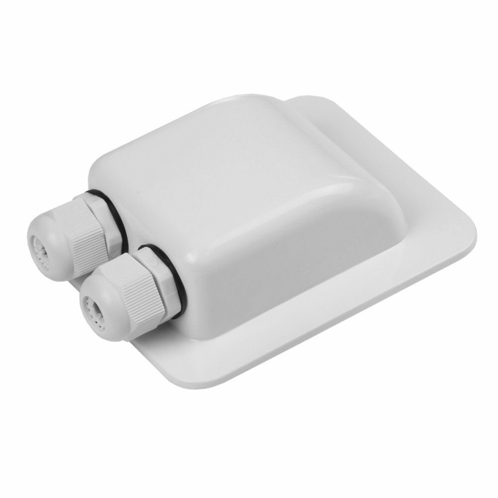 Waterproof ABS Junction Box Double Cable Entry Gland For RV Solar Panel Motorhomes Campervans Caravans Boats
