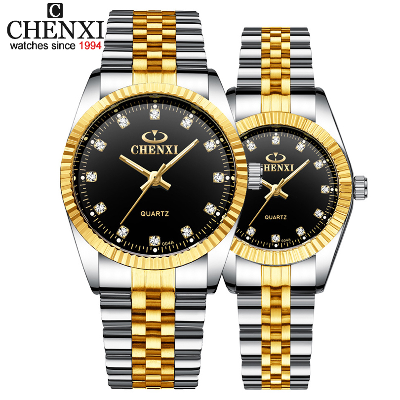 Best Couple New CHENXI Steel Band Quartz Watch Men And Women Watches Fashion Lovers Watches Women's Dress Watch Free Shipping