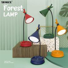 Сенсорный светодиодный светильник forest bird современные настольные