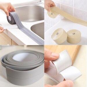 Image 3 - Kuchnia DIY samoprzylepna tapeta taśma graniczna wodoodporna biała, nieprzepuszczalna, uszczelniająca taśma uszczelniająca taśma do naklejania PVC