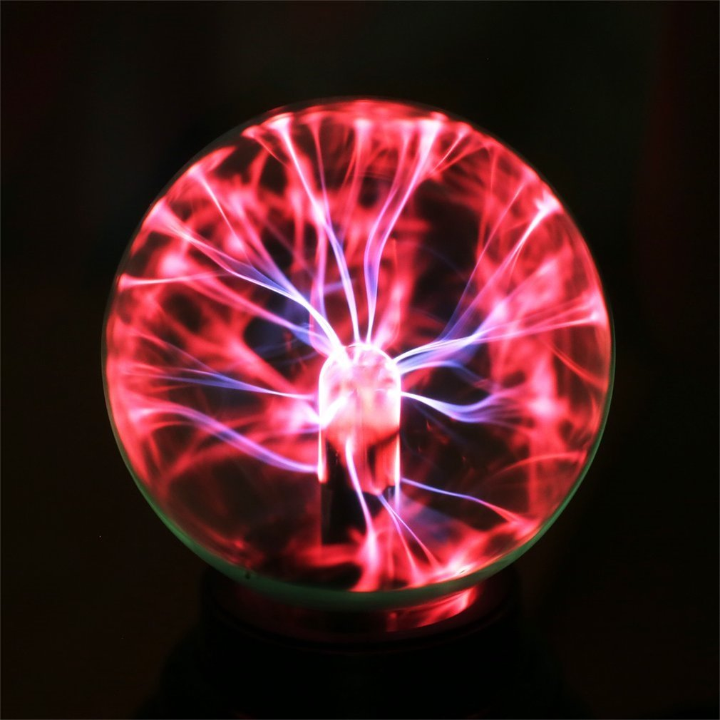 USB Magic Crystal Globe Desktop Light Plasma Ball Sphere Lightning Lamp Transparent Home Party Night Lamp Ball Night Light