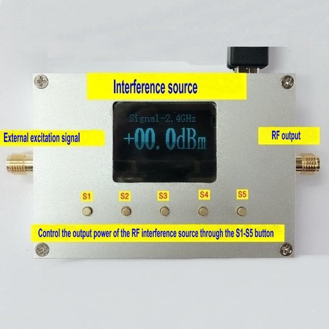 2,4-2,5G GPS 88-108M 5,8G WiFI UAV barrido fuente