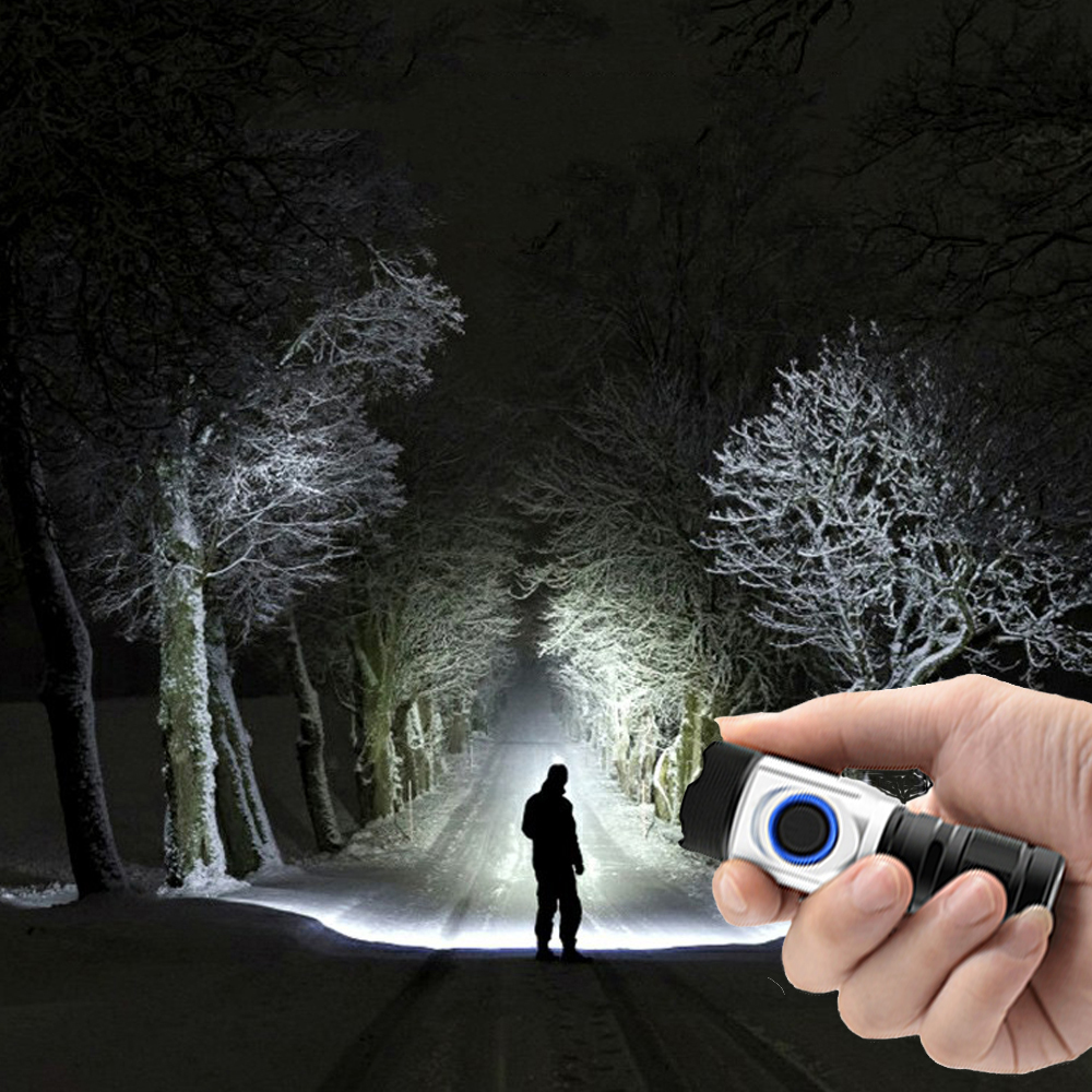 Super Mini Torch Most Powerful Led Mini Flashlight Usb 18650   18350 Rechargeable 4*XPG LED IPX6 Waterproof Tactical Flashlights