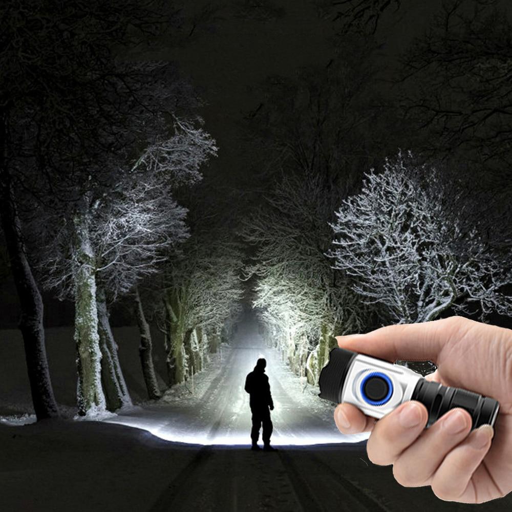 Super Mini Torch Most Powerful Led Mini Flashlight Usb 18650   18350 Rechargeable 4*XPG LED IPX6 Waterproof Tactical Flashlights