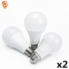 2 teile los LED E14 Led-lampe E27 LED Lampe AC 220V 230V 240V 3W 6W 9W 12W 15W 18W 20W Lampada Led-strahler Tisch Lampe Lampen Licht cheap NIN FULL Cool White(5500-7000K) led bulb 2835 Wohnzimmer 500-999 lumen Other Over 10000 hours Luftblasen-Kugel-Birne Epistar