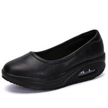 Женщины Квартиры Платформа Обувь Свободного Покроя Женщины Мокасины Скольжения На Мелкой Качания Мокасины Балет Женщина С Zapatos Де Mujer Дамы