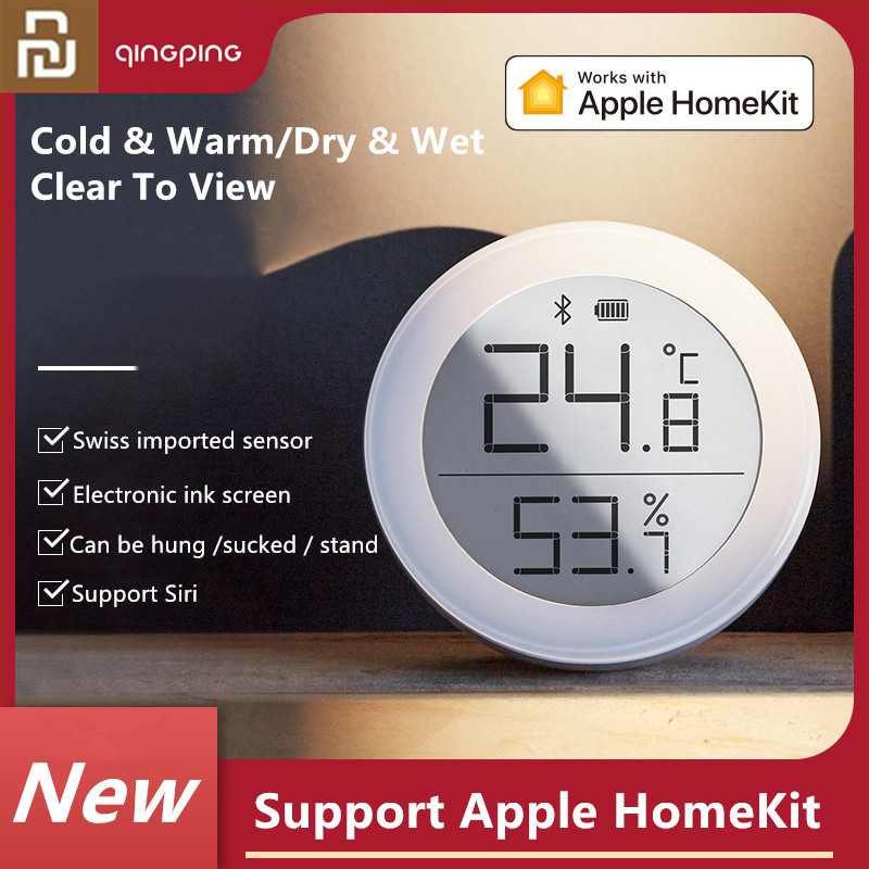 2020 Cleargrass Bluetooth Temperature Humidity Sensor Data Storage E-Link INK Screen Thermometer Support Apple Home Kit