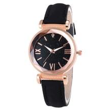2020 Fashion Luxury Starry Sky Watches for Women Stylish Ladies Quartz Analog Wristwatch Leather Strap Clock Casual Reloj Mujer