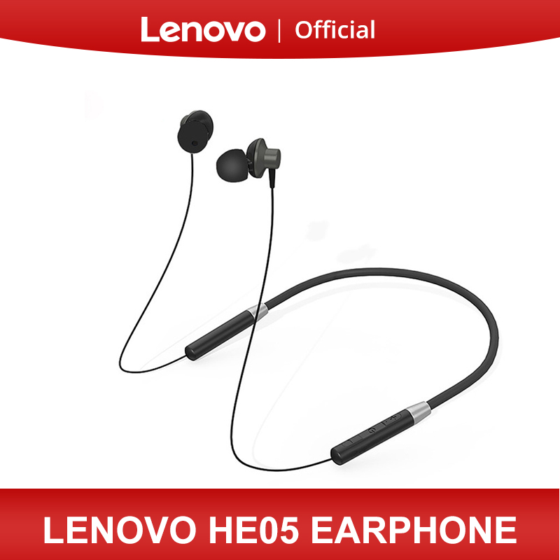 Original Lenovo Bluetooth Headphones HE05 Wireless Bluetooth Earphone BT5 0 Sports Sweatproof Headset for Android IOS phone