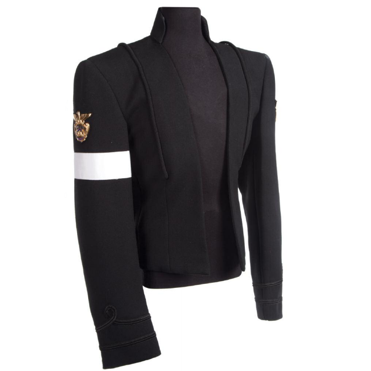 MJ Michael Jackson Photoshoot Black Woolen Jacket