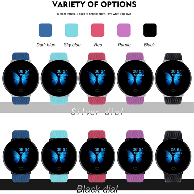 Relógio de Banda Inteligente à Prova Pulseira de Fitness Medição de Pressão Monitor de Freqüência Cardíaca para Mulheres dos Homens Dwaterproof Água Rastreador Pulseira Inteligente