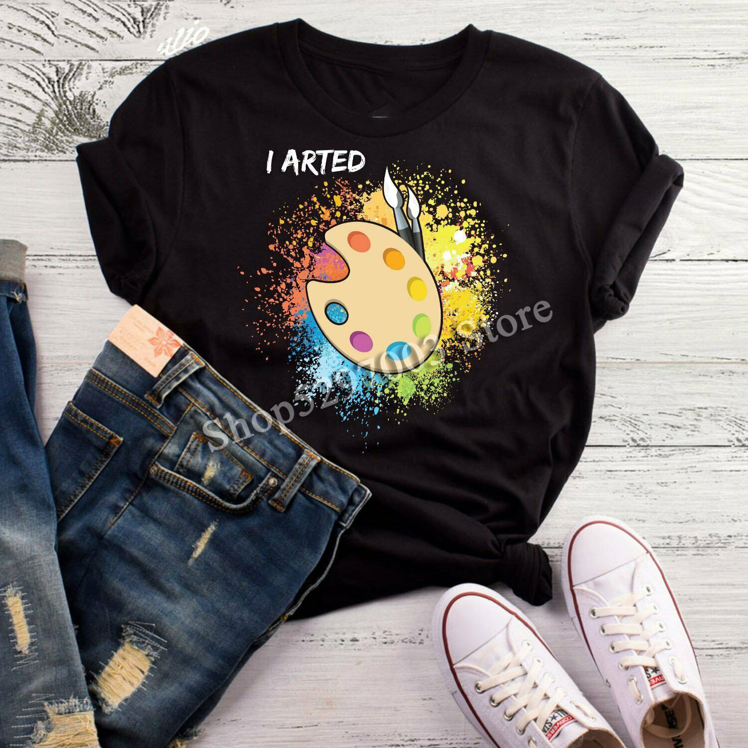 I Arted T-<font><b>Shirt</b></font>, Funny Art Teacher <font><b>Shirt</b></font>, Artist <font><b>Shirt</b></font>, Artist Gift, Gift For <font><b>Ar</b></font> Tee Tshirt Tee <font><b>Shirt</b></font> image