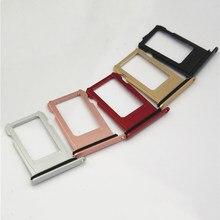 Bandeja de cartão sim para iphone 8 8 plus 8 p + x nano sim bandeja de cartão sim titular adaptador sim prata ouro blak vermelho