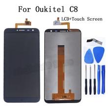 100% di prova Originale Per Oukitel C8 Display LCD di Tocco digitale dello schermo di Accessori di ricambio Per Oukitel C8 Schermo display lcd