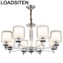 Moderna Comedor Led Loft Decor Crystal Light Pendant Lustre E Pendente Para Sala De Jantar Luminaria Deco Maison Hanging Lamp