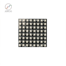 JERCIO 8*8/8*32/16*16 Black/white PCB XT1511-RGB(Similar with ws2812b) 256 gray level programmable Flexible LED Pixels Panel.