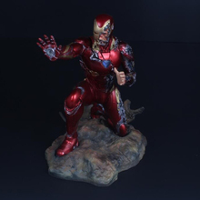 Aven 4 Final Battle Iron Man MK50 Battle Damage GKรูปปั้นปาล์มหน้าอกสามารถShine