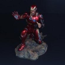 Aven estatua de batalla final de Iron Man MK50, estatua GK, cofre de Palma brillante